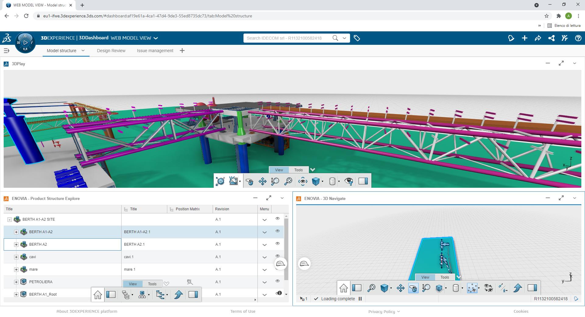Fase di progetto su 3DEXPERIENCE Platform